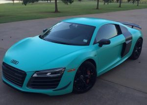 Audi R8 wrapped in 180Cv3 vinyl