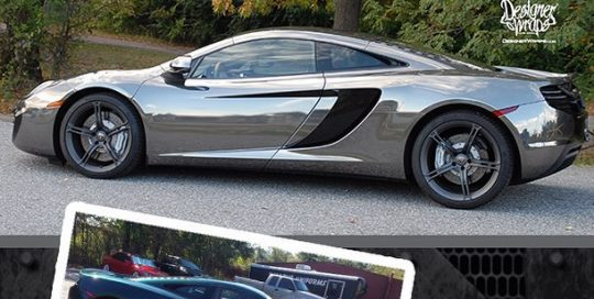 Mclaren wrapped in Avery Black Chrome vinyl