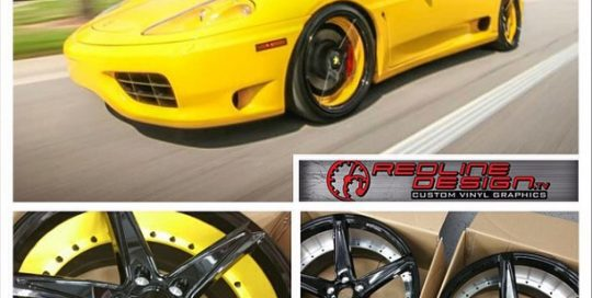 Ferrari 360 wrapped in 1080 Gloss Yellow