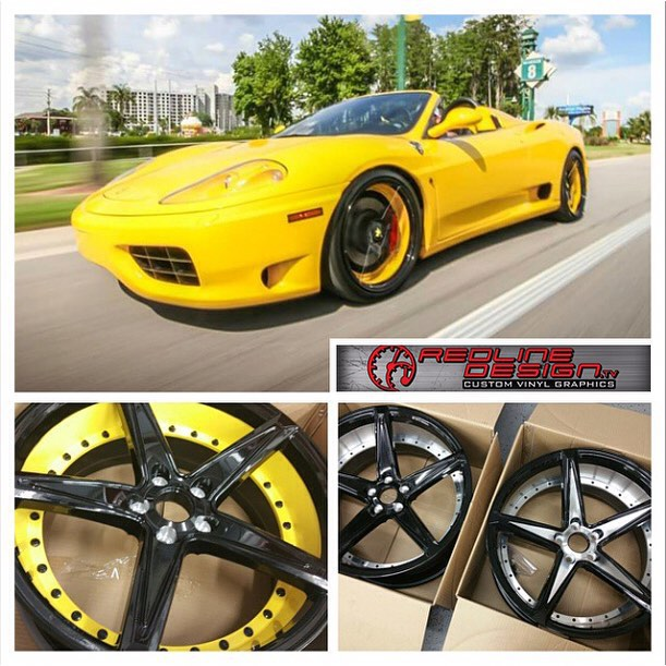 Ferrari 360 wrapped in 1080 Gloss Yellow