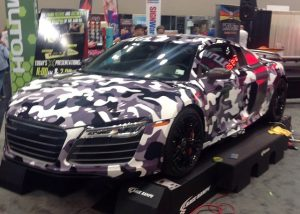 Audi R8 wrapped in 3751RA vinyl
