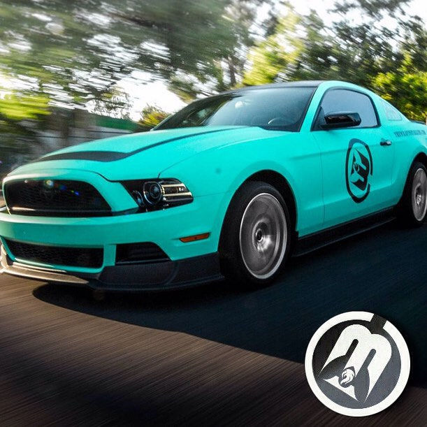 Ford Mustang wrapped in Avery's new SW Matte Vintage Green