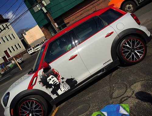Mini Cooper wrapped in 180Cv3 vinyl