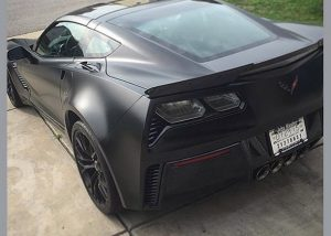 Chevrolet Corvette Z06 wrapped in Avery SW Satin Black