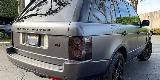 Range Rover wrapped in 3M 1080 Satin Dark Gray viny