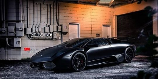 Lamborghini Murcielago wrapped in 3M 1080 Satin Black vinyl