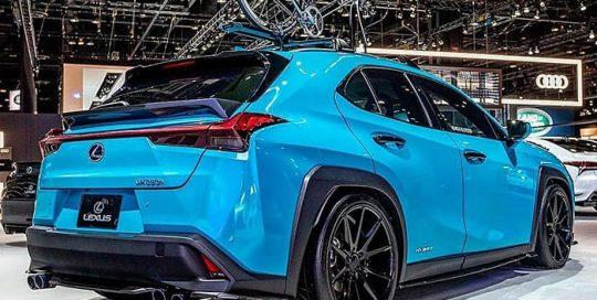 Lexus wrapped in ORAFOL_Americas 970RA Gloss Lagoon vinyl