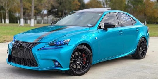 Lexus ISF F Sport wrapped in M 1080 Gloss Atomic Teal vinyl