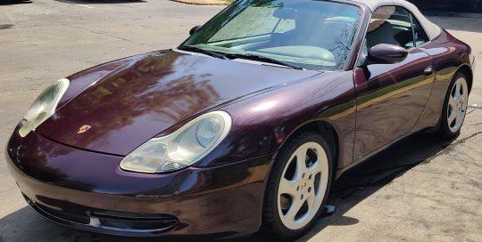Porsche Panamera wrapped Gloss Black Rose vinyl