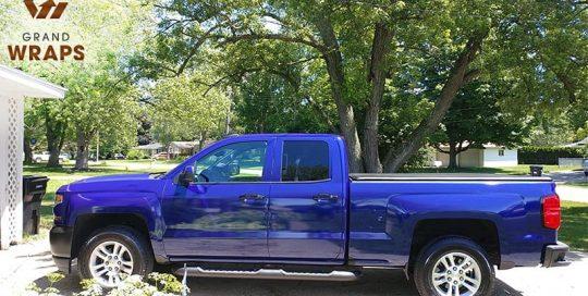 Chevrolet wrapped in Avery SW Gloss Magnetic Burst Metallic vinyl