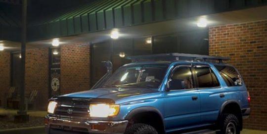 Toyota 4Runner wrapped in ORAFOL_Americas 970RA Gloss Jetstream Blue vinyl