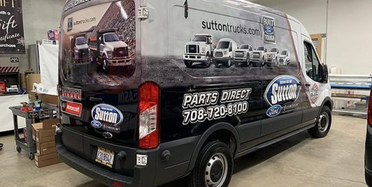 Ford Transit wrapped in custom printed orafol_americas 3751RA and Oraguard 290 vinyls