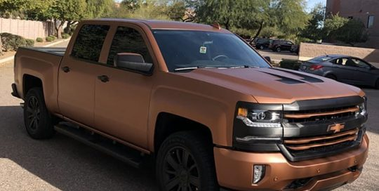 Chevrolet Avery SW Matte Brown Metallic and 3M Brushed Black vinyls