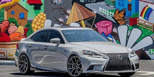 Lexus wrapped in Avery Gloss Rock Grey vinyl