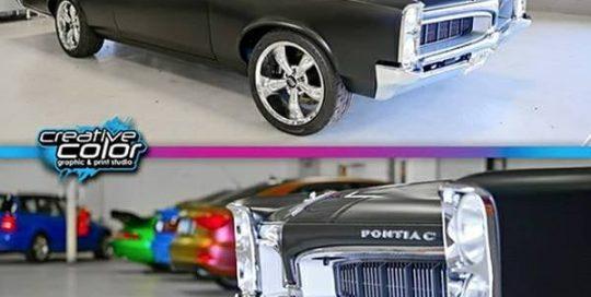 Pontiac Tempest wrapped in 3M 1080 Matte Black vinyl