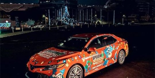 Toyota Camry wrapped in custom printed 3M IJ180Cv3