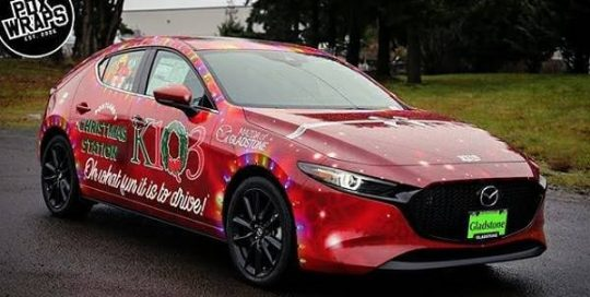Mazda 3 wrapped in custom printed 3M IJ180mC