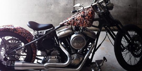 Motorcycle wrapped in Avery 1005EZRS vinyl