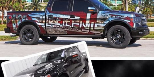 Ford wrapped in printed with Avery Conform Chrome