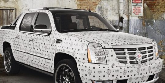 Cadillac Escalade wrapped in printed on Avery 1005EZ